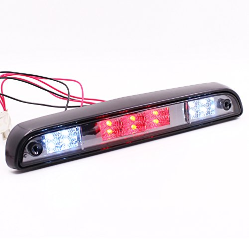 LED Rear Stop 3rd Brake Light For Ford F150 94-96/ F250 F350 94-97/ Bronco 92-96 Smoke Lens Tail Lamp (Lamp Tail Gasket Lens)