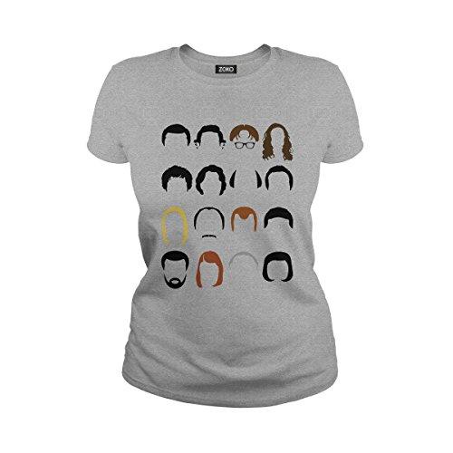 Women's The Office Face Funny Michael Scott, Jim Halpert, Dwight Schrute T-Shirt (S, Sport Grey) -