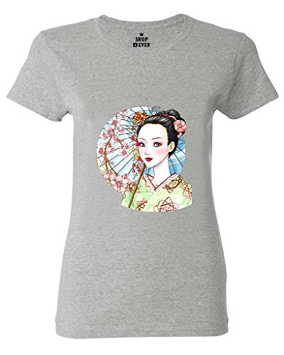 VIPxmax Geisha Painting Fiber Modern Inconceivable Athlete Mighty Short Sleeve Women T-shirt Size XXL