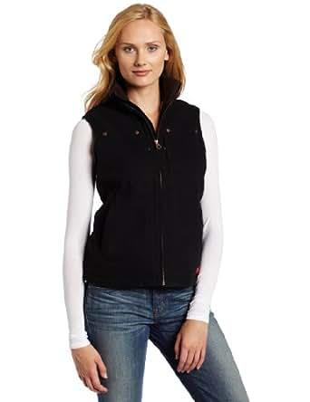 Dickies Women's Sanded Duck Vest, Slate Blue, Large