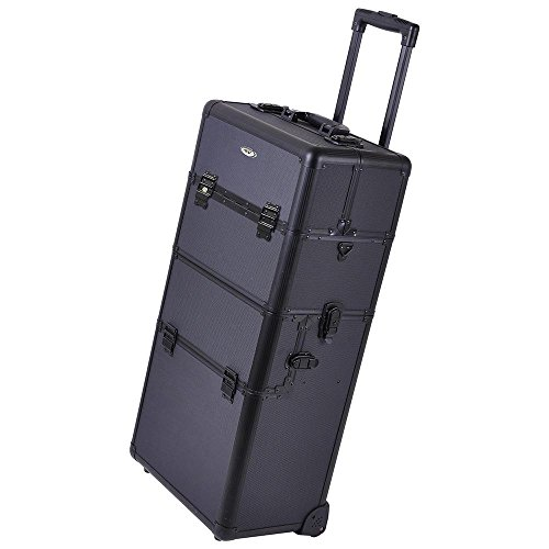 Professional Rolling Makeup Case (Black) by Generic