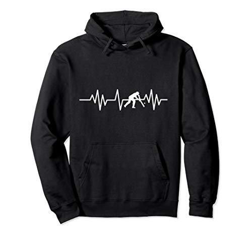 Awesome Cricket Player Heartbeat Hoodie Sports Pullover Coach Adult Hooded Sweatshirt