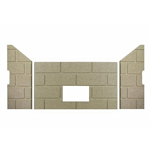 Replacement Firebrick (Whitfield Profile 30 & Optima 3 Premium Sandstone FIRE-TEK Firebrick for Pellet Stoves)