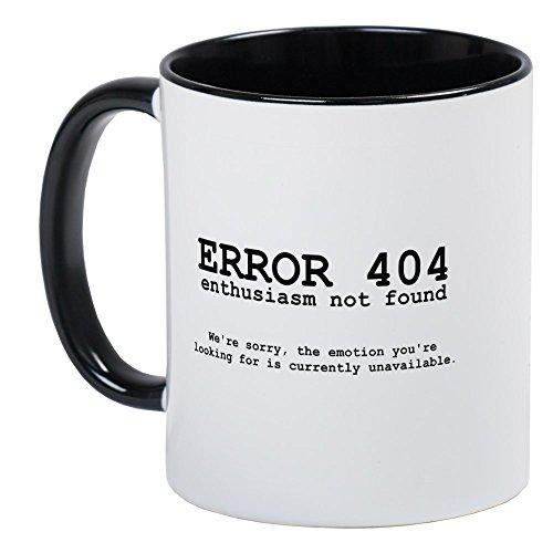 (CafePress 404 Enthusiasm Mug Unique Coffee Mug, Coffee Cup)