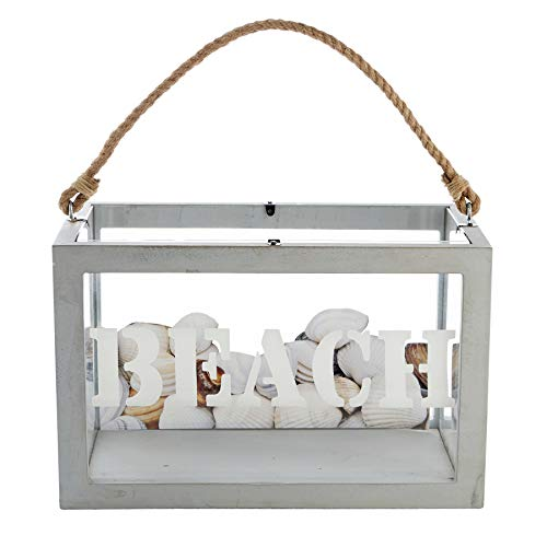 Mud Pie Beach Collection Shell Box, One Size, White
