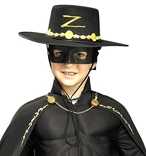 Zorro Costume Kids (Rubie's Costume Children's Zorro Hat and Eye Mask)