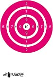 iCandy Combat Bright Pink Bulls Eye Paper Targets For Girl Teen Woman Shooter Sight In Rifle Hand Gun