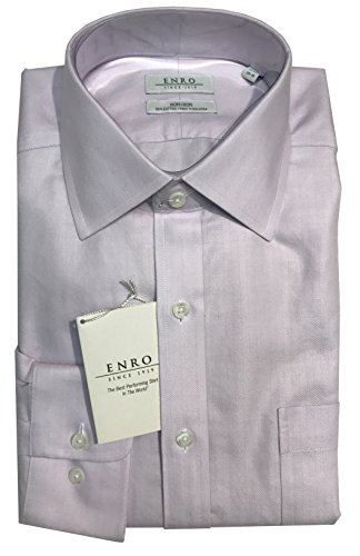 Herringbone Stripe Dress Shirt (Enro Non-Iron Spread Collar Tonal Herringbone Stripe Dress Shirt (15.5 34/35,)