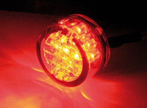 Mini LED Pin R/ücklicht zum Einkleben E-gepr/üft f/ür Chopper Scrambler Cafe Racer