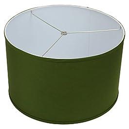 FenchelShades.com 18″ Top Diameter x 18″ Bottom Diameter 12″ Height Cylinder Drum Lampshade USA Made