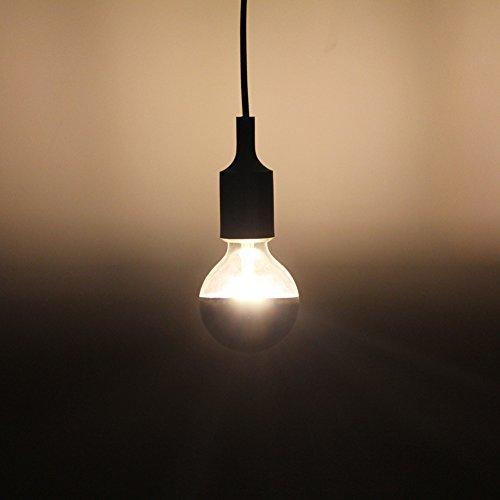 Half Chrome Light Bulb Dimmable LED Edison Bulb Silver Bowl Tipped ...