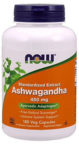 NOW Ashwagandha Extract 450 mg 180 Caps *NEW SIZE* Ashwagandha Extract