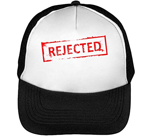 Blanco Gorras Funny Beisbol Rejected Stamp Negro Hombre Snapback R0EW1xU