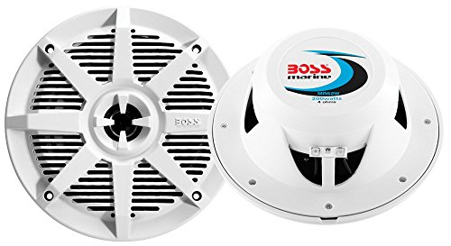 Boss 6.5 2-Way Coaxial Marine Speaker 200W White