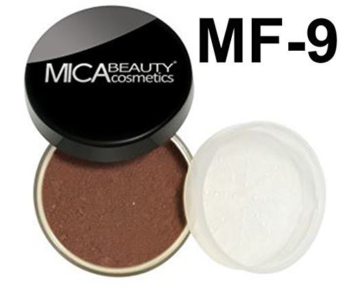 Bundle 2 Items: Mica Beauty Mineral Foundation 9 Gram + Itay Mineral Cosmetics Lipstick Assorted Colors (MF-9 Chocolate Kisses) (Minerals Lipstick Little Kisses)