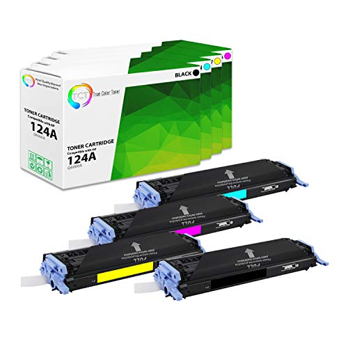 TCT Premium Compatible Toner Cartridge Replacement for HP 42A Q6000A Q6001A Q6002A Q6003A Works with HP Color Laserjet 2600N 1600 2605N, CM1015 MFP Printers (Black, Cyan, Magenta, Yellow) - 4 Pack