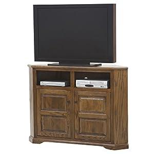"""Eagle Oak Ridge Tall Corner TV Console, 56"""" Wide, Concord Cherry Finish"""