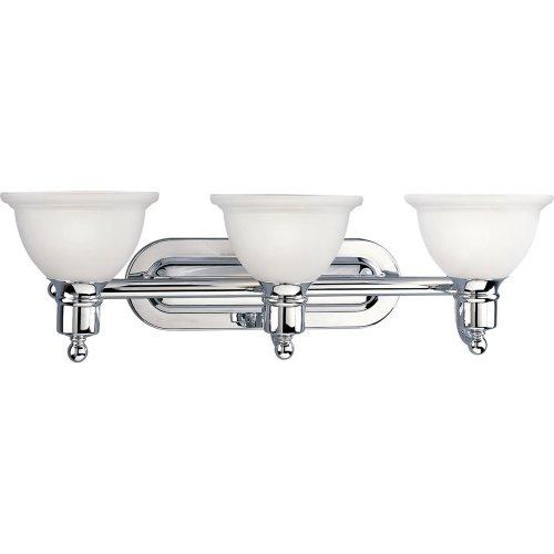 UPC 785247137947, Progress Lighting P3163-15 3-Light Bath Bracket, Polished Chrome