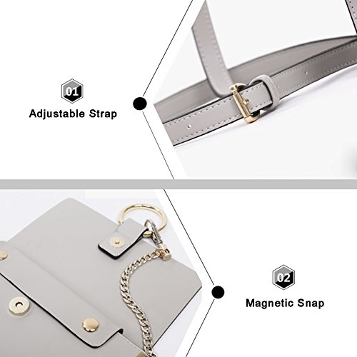 Yoome Casual Flap Bolsa Circular Ring Chain Bolsas Para Las Niñas Vintage Bolsas Para Las Mujeres Crossbody - Marrón marrón