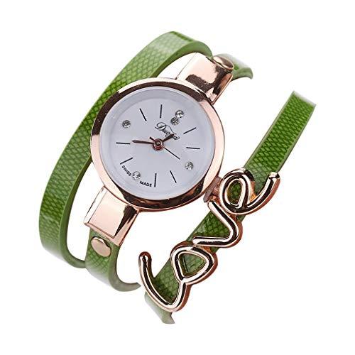 (Bracelet Watches for Women,LYN Star❀ Fashion Analog Quartz Bangle Cuff Bracelet Wrist Watch, Unique Elegant Watch Band )