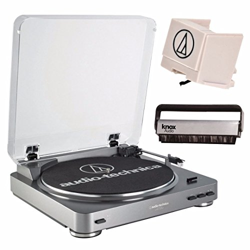 Audio Technica AT-LP60USB Fully Automatic Belt Driven Turntable w/ USB Port & Replacement Stylus Dj Turntable Cartridge Package