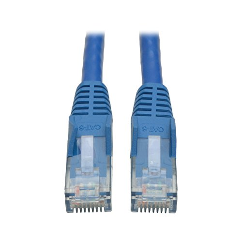 Tripp Lite Cat6 Gigabit Ethernet Snagless Molded Patch Cable 24 AWG 550MHz Premium UTP, Blue, RJ45 M/M 8' (N201-008-BL) (Cord Patch Awg 24)