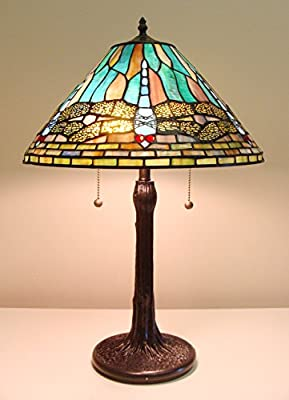 Fine Art Lighting T1691 Tiffany Dragonfly Table Lamp