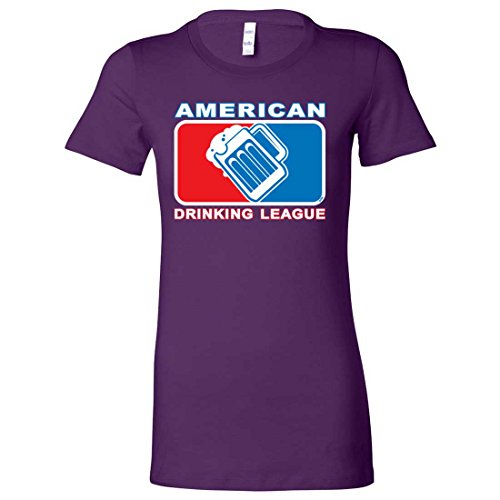 (American Drinking League USA Ladies Lightweight Fitted T-Shirt - Team Purple Large)
