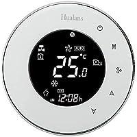 Termostato Wi-Fi per Caldaia a Gas,Termostato intelligente Schermo LCD(VA Schermo) Touch Button Retroilluminato…