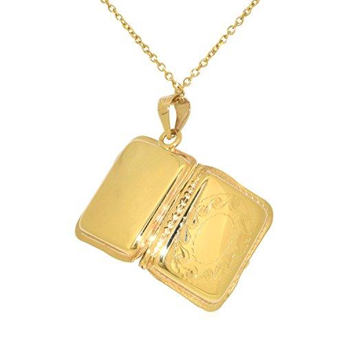 Shin Brothers Inc. 14k Yellow Gold Rectangular Locket Charm
