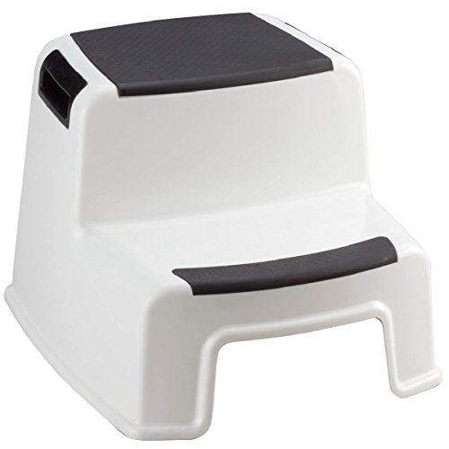 """Portable 2-step Stool w/ Handles – 13.5"""" L x 12"""" W x 10.2"""" H – Supports up to 280 lbs"""