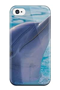 Iphone 4/4s Hard Back With Bumper Silicone Gel Tpu Case Cover Dolphins 8892655K58513956