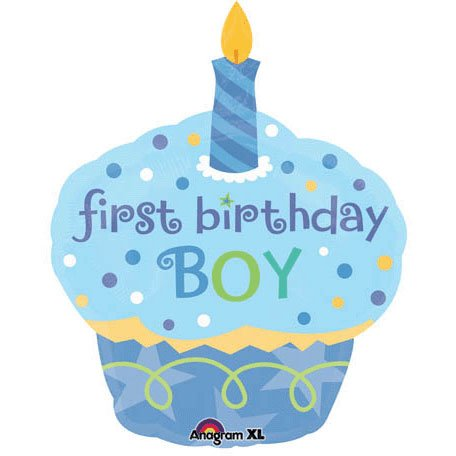 Anagram International Sweet Little Cupcake Boy Balloon, 36