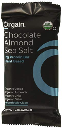 ORGAIN Organic Chocolate Almond Sea Salt Protein Bars 12ct, 2.05 OZ