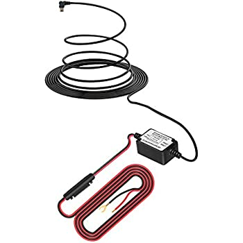 Shishuo Dash Kit de cableado Cam 3.5m Cable Mini Puerto Micro Usb Entrada 12V-24V Fusible