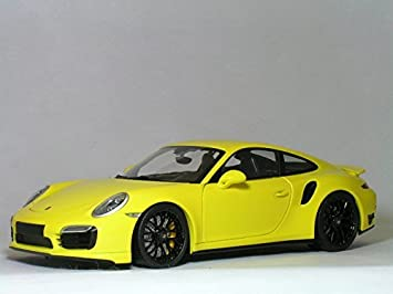 Minichamps 1/18 Porsche 911 (991) Turbo S (yellow/black wheels