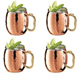 OGGI Hammered Copper Moscow Mule Mug Set of 4