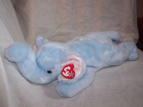 TY Beanie Buddy - PEANUT the Elephant (Light Blue version)