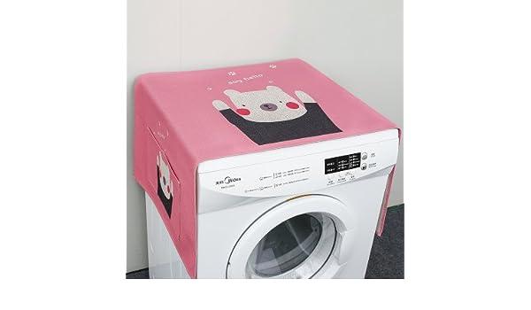 manimo hogar vida Hall, oso algodón lino frigorífico el polvo multiusos lavadora cubierta superior, Universal Protector solar, con bolsa de almacenamiento ...