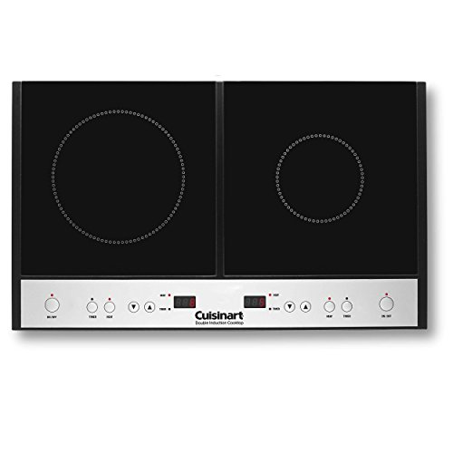 Double With Timer Range (Cuisinart ICT-60 Double Induction Cooktop, Black)