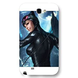 UniqueBox Catwoman Custom Phone Case for Samsung Galaxy Note 2, DC comics Catwoman Customized Samsung Galaxy Note 2 Case, Only Fit for Samsung Galaxy Note 2 (White Frosted Shell) WANGJING JINDA
