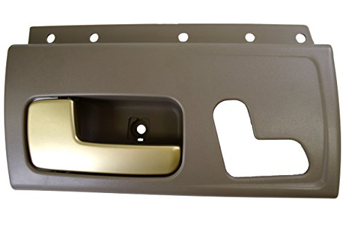 Gray Inside Front Driver - PT Auto Warehouse FO-2385MG-FL - Inside Interior Inner Door Handle, Gray Housing with Chrome Lever (Golden Brush) - Driver Side Front