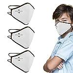 kit 3 pz mascherine bambino certificate in cotone lavabile con tnt antimicrobico interno (bianca) 419E0FSJPNL. SS150