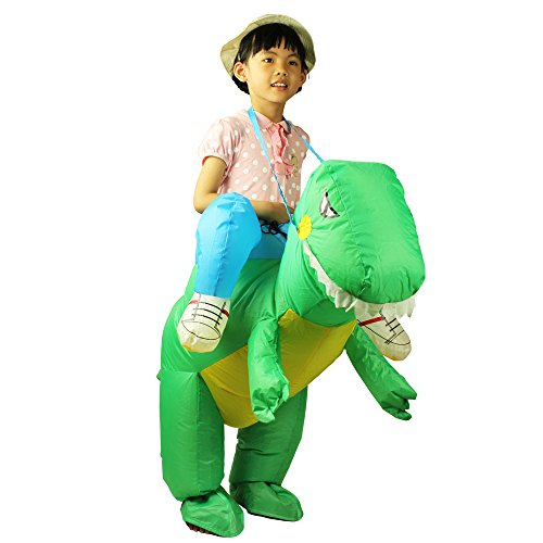 Fire Dancing Costumes (Dinosaur Costume For Kids Inflatable Toys Funny Suit Dancing Party Dress)