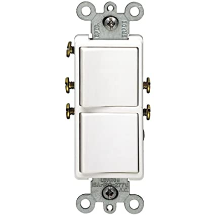 leviton r02 5634 w two single pole switches wall light switches rh amazon com