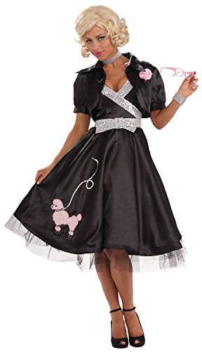 50s Halloween Costume 50s Diva (Forum Novelties Women's Flirtin' with The 50's Poodle Diva Costume, Multi, X-Small/Small)