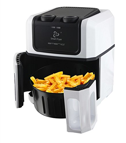 emerio Smart Fryer freidora 2, 5 l, Color Blanco y Negro: Amazon.es