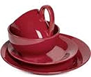 Corsica Home Tabletops Unlimited - Modern Style 4 Piece Place Settings Service For 1 (  sc 1 st  Amazon.com & Amazon.com: Royal Doulton Mode Wood Salad Server Pair: Home \u0026 Kitchen