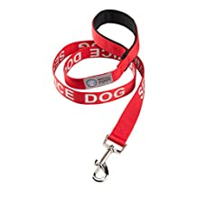 Service Dog Leash with Neoprene Handle and Reflective SERVICE DOG Lettering for Service Animal Vests, by Industrial Puppy
