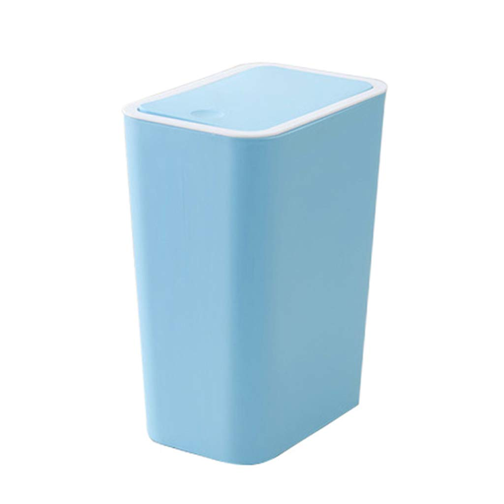 CSQ Small Plastic Trash Can, Household with Lid Storage Bin, Office Classroom Bedroom Trash Can 2114.527.5CM Indoor